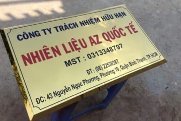Làm biển công ty giá rẻ nhất Hà Nội